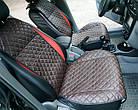 Накидки из эко-кожи (комплект) на сиденья Peugeot 207 2007-2012, фото 6