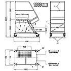 Лестница складская Н 1000 мм, передвижная лестница на склад, фото 3