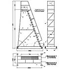 Платформова драбина Н4500 мм, складська драбина з перилами, фото 3