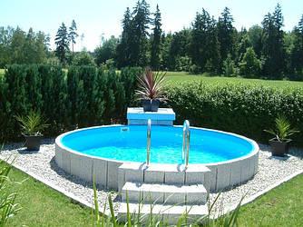 Збірний каркасний басейн Hobby Pool MILANO 5,00 х 1,5 м плівка 0.6 мм
