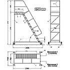 Складская лестница Н2750 мм, лестница-платформа на колесах, фото 3