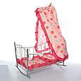 Кроватка – качалка 47x33x67 см для кукол. Матрас, подушка, балдахин. Melogo   9349, фото 2