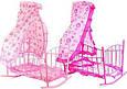 Кроватка – качалка 47x33x67 см для кукол. Матрас, подушка, балдахин. Melogo   9349, фото 3