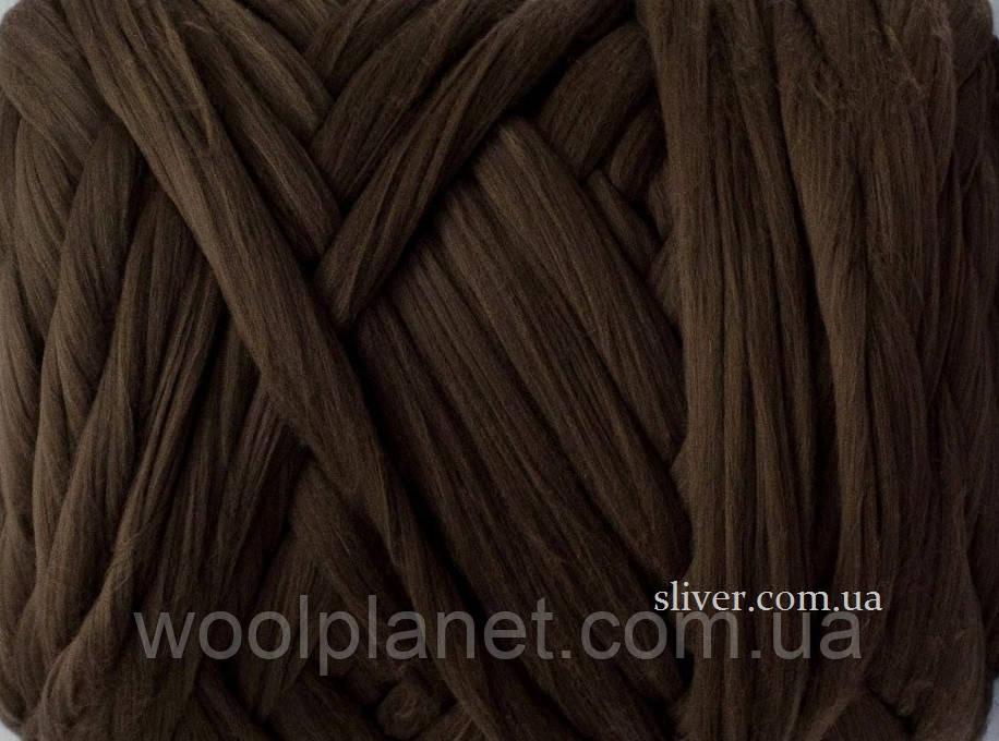 Толстая, крупная пряжа для пледов, кардиганов. 100% мериносовая шерсть для вязания.Мокко. Топс.