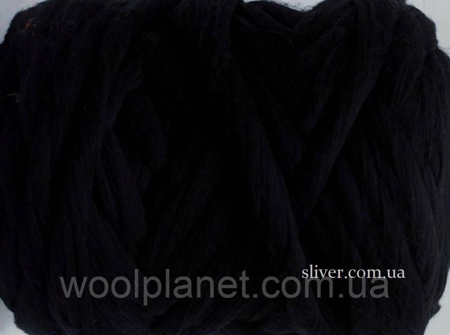 Толстая, крупная пряжа для пледов, кардиганов. 100% мериносовая шерсть для вязания. Черный. Топс.