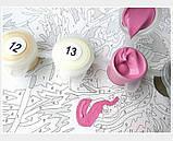 Картина по номерам Белый пион с золотой краской © Художника: Алесандра Озерова ТМ Идейка 40 х 50 см КНО3115, фото 4