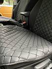 Накидки из эко-кожи (комплект) на сиденья Volkswagen Polo IV 2001-2009, фото 2