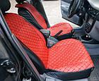 Накидки из эко-кожи (комплект) на сиденья Volkswagen Polo IV 2001-2009, фото 5