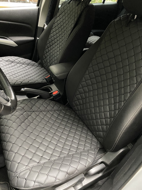 Накидки из эко-кожи (комплект) на сиденья Daewoo Gentra II 2013+