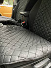 Накидки из эко-кожи (комплект) на сиденья Daewoo Lanos 1997+, фото 2