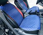 Накидки из эко-кожи (комплект) на сиденья Volkswagen Polo VI 2017+, фото 3