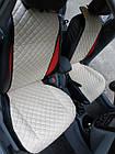 Накидки из эко-кожи (комплект) на сиденья Volkswagen Polo VI 2017+, фото 7