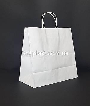 Белый подарочный крафт пакет с ручками 540х140х480 плотность 120г/м², фото 2