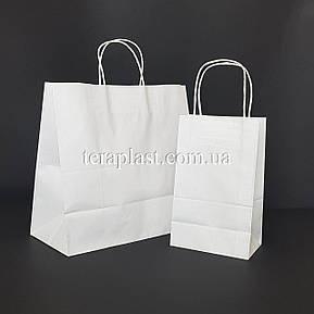 Белый подарочный крафт пакет с ручками 540х140х480 плотность 120г/м², фото 3