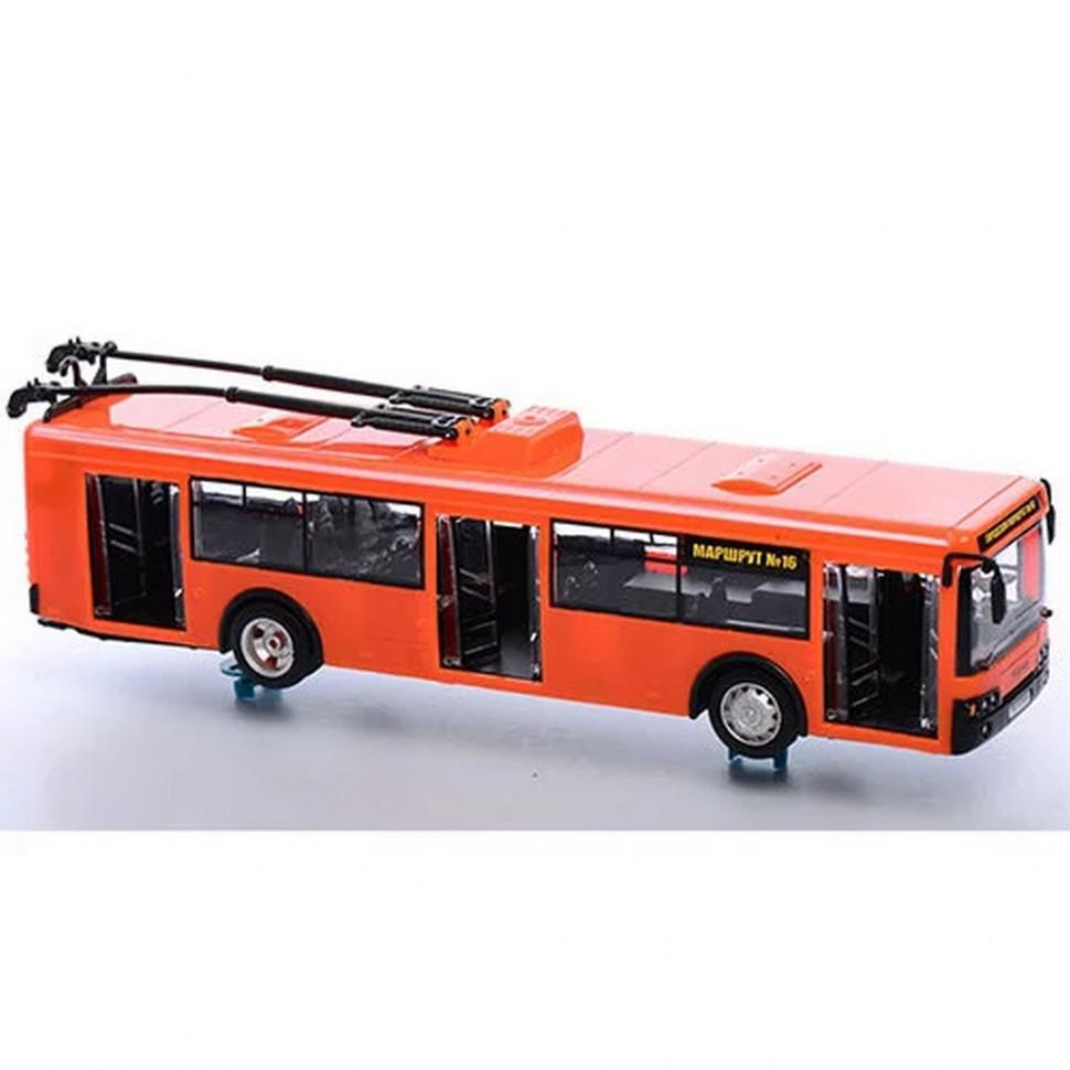 Троллейбус инерционный 9690AB (Оранжевый)