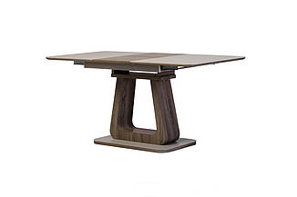 Стол ТМL-521-1 матовый капучино+дуб 120/160 от Vetro Mebel (бесплатная доставка)