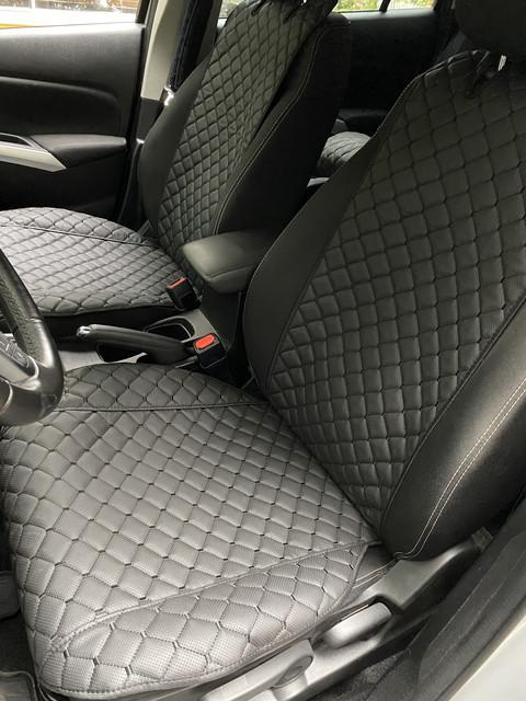 Накидки из эко-кожи (комплект) на сиденья Honda CR-V II 2002-2006