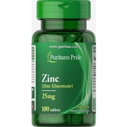 Цинк глюконат / Zinc Gluconate 25mg 100tabs (Puritan's Pride)