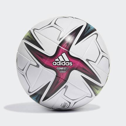 Мяч футбольный Adidas Conext 21 League Football №5 GK3489 Белый, фото 2