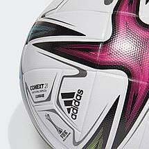 Мяч футбольный Adidas Conext 21 League Football №5 GK3489 Белый, фото 3