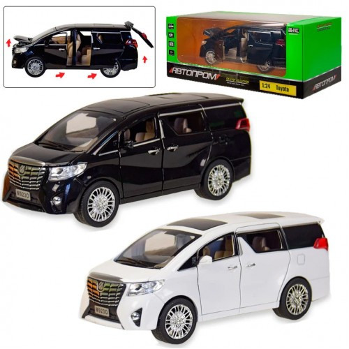 """Машинка металлическая """"Автопром"""" 7685 Микроавтобус Toyota 1:24 (два цвета)"""