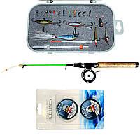 Рыболовный набор для зимней рыбалки с Вольфрамовыми мормышками №3