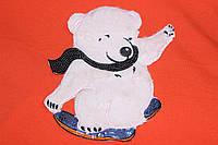 Пришивна дитяча аплікація, мех, паєтки, великий розмір 25*30 см №1211, фото 1