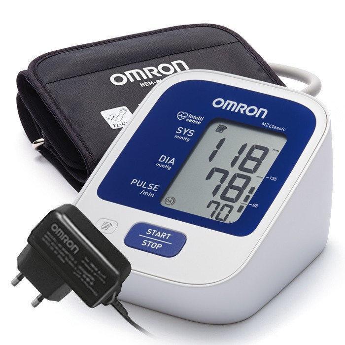 OMRON M2 Classic (НЕM-7122-АLRU) з універсальною манжетою 22-42 см і адаптером мережі