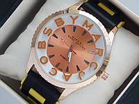 Мужские (Женские) кварцевые наручные часы Marc Jacobs на каучуковом ремешке, фото 1