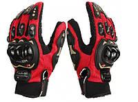 Перчатки PRO BIKER мотоциклетные  Красные