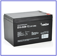 Тяговый аккумулятор Merlion EV 6-DZM-12 12V 12Ah M5, фото 1