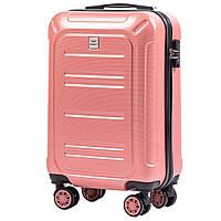 Чемодан поликарбонат Wings PC175 маленький - ручная кладь (S, 35 л) Розовый (Pink)