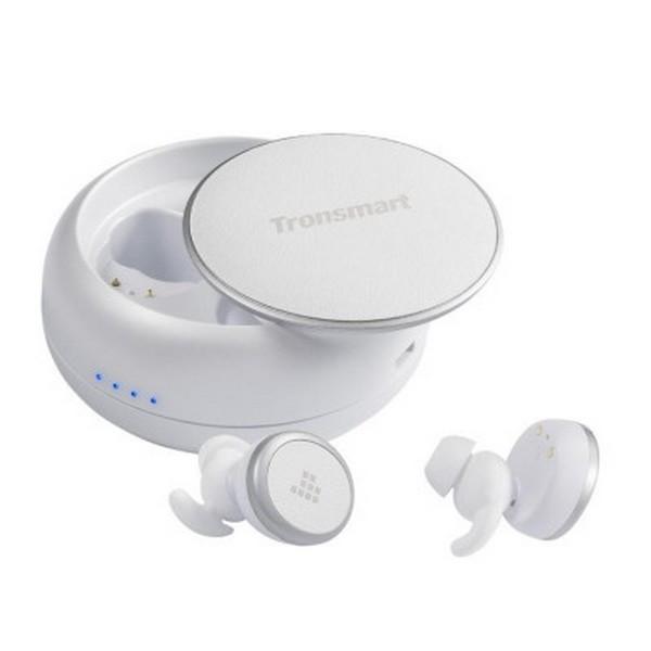 Навушники вакуумні безпровідні з мікрофоном Tronsmart Encore Spunky Buds White