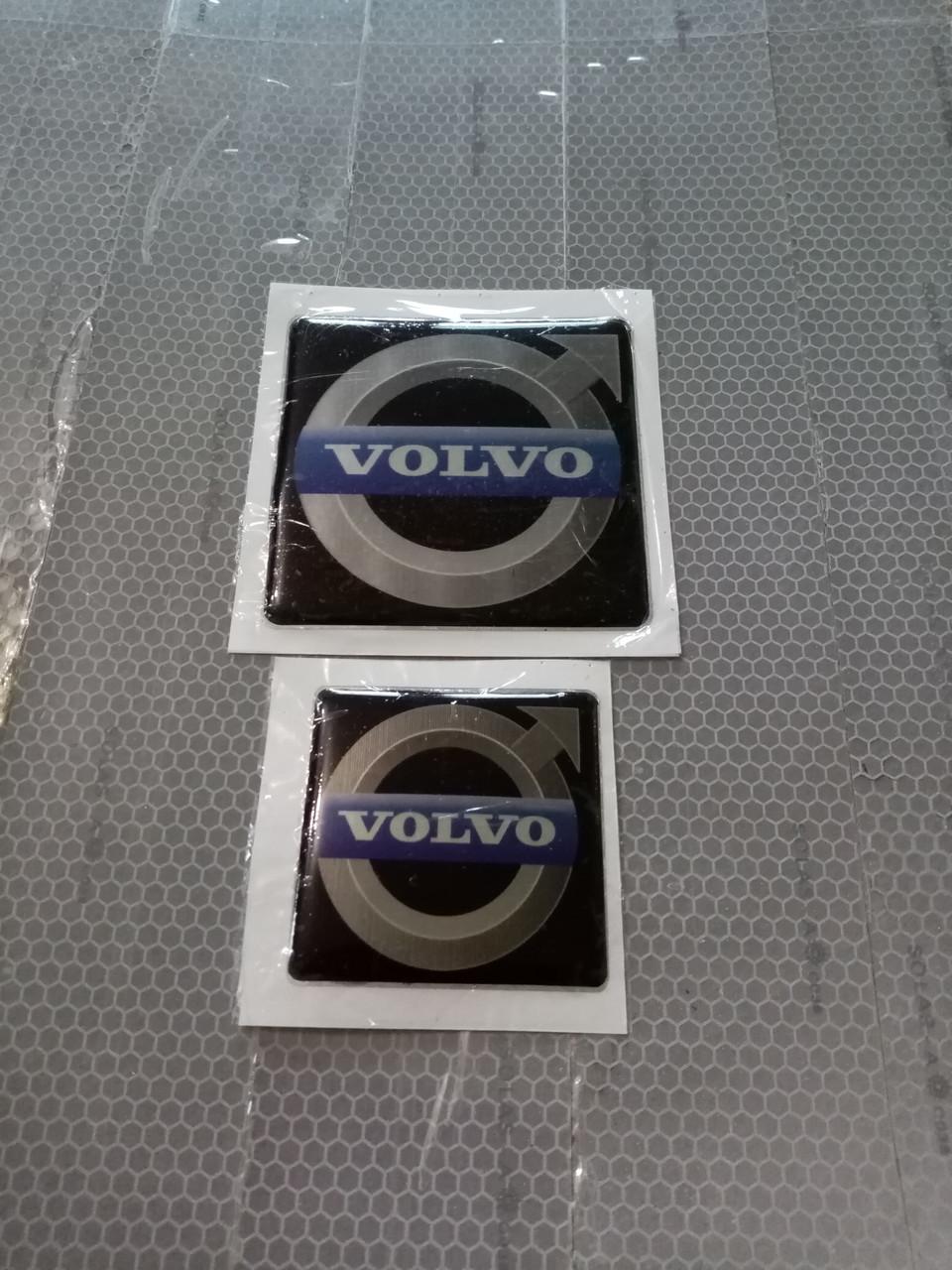 Силиконовые наклейки VOLVO  хром   53х53 мм  и 75х75 мм