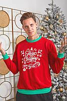 Мужской новогодний батник с надписями, фото 1