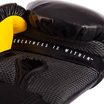 Перчатки боксерские PU на липучке EVERLAST P00001201 PRO STYLE ELITE (р-р 14oz, черный), фото 2