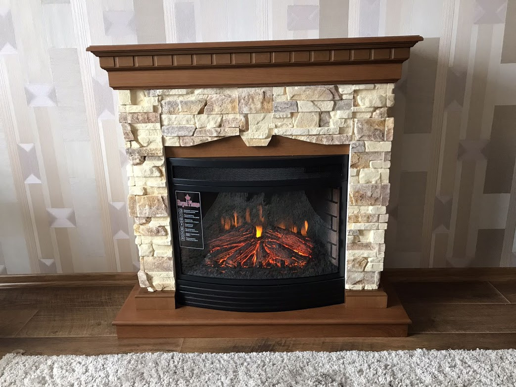 Каминокомплект Fireplace Техас с эффектом сгоранием дров и пламени со звуком и обогревом