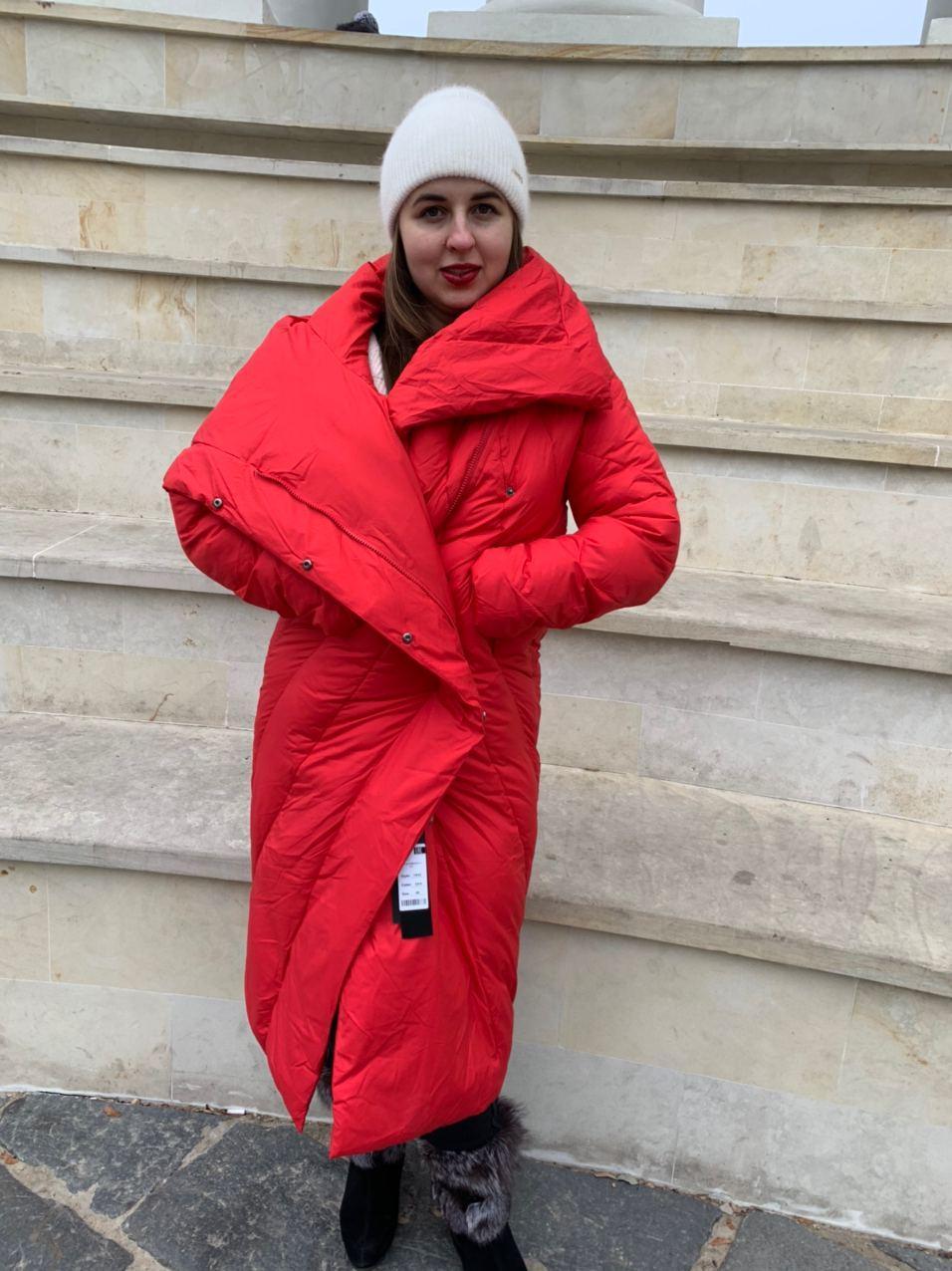 Красный пуховик-одеяло Tongcoi 1932-101