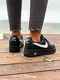 Женские кроссовки  Nike на меху черные(копия), фото 8