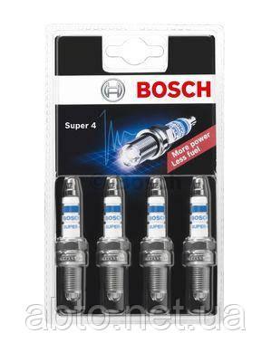 Свеча зажигания Bosch Super-4 0 242 232 801 (FR78)