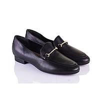 Женские кожаные туфли низкий ход черные Rylko