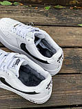 Женские кроссовки  Nike на меху белые(копия), фото 5