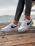 Женские кроссовки  Nike на меху белые(копия), фото 4