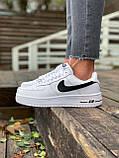 Женские кроссовки  Nike на меху белые(копия), фото 9