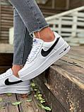 Женские кроссовки  Nike на меху белые(копия), фото 7
