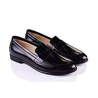 Кожаные женские туфли черные Marco Piero