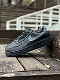 Мужские кроссовки Nike Air Force  черные мех (копия), фото 3