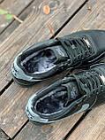 Мужские кроссовки Nike Air Force  черные мех (копия), фото 2