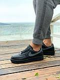 Мужские кроссовки Nike Air Force  черные мех (копия), фото 8
