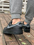 Мужские кроссовки Nike Air Force  черные мех (копия), фото 6